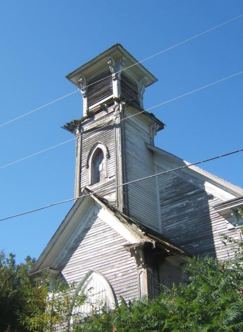 abandoned church near Knowlesville, New Brunswick