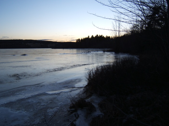 the frozen lake