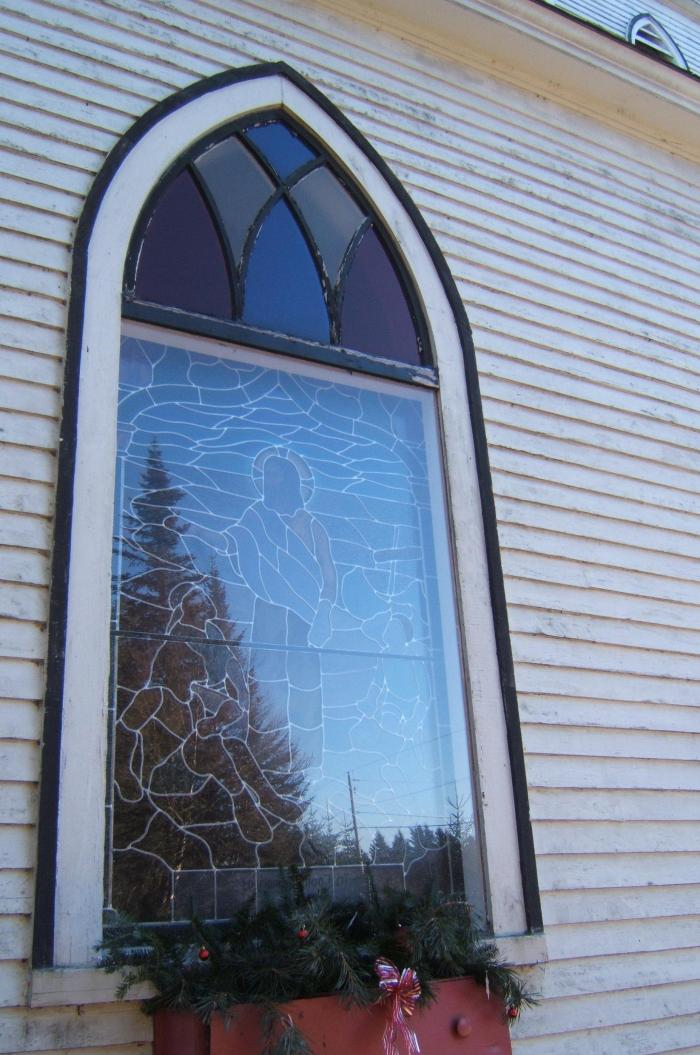 window - 'Jesus teaching by the sea'