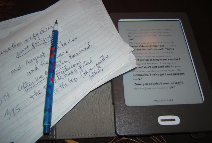 edits with my Kobo e-book