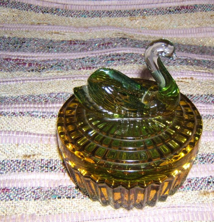 green swan dresser jar