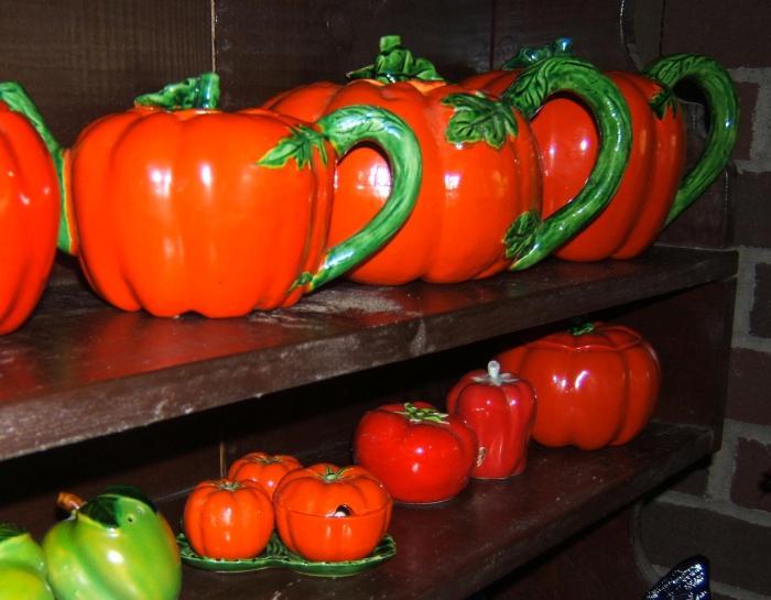 Tomato Ware teapots