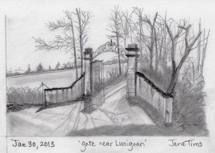 'gate near Lusignan'