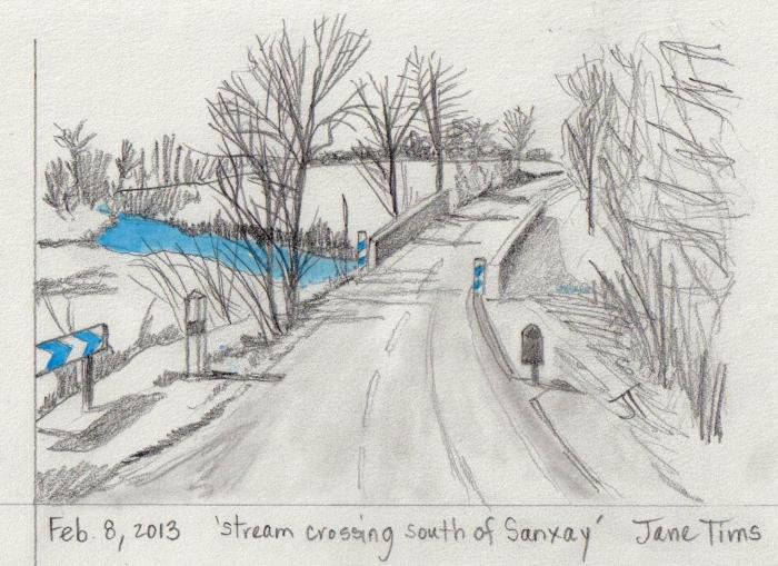 'stream crossing south of Sanxay'