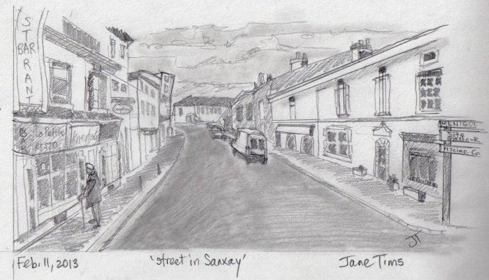 'street in Sanxay'