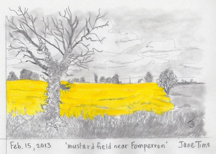 'mustard field near Fomperron'