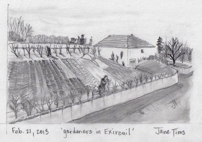 'gardeners in Exireuil'
