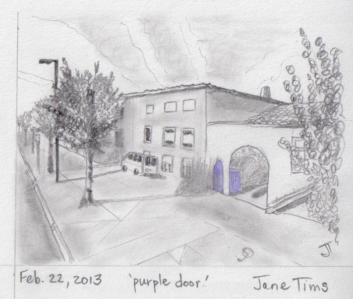 'purple door'