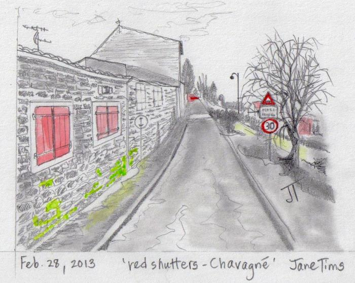 'red shutters - Chavagne'