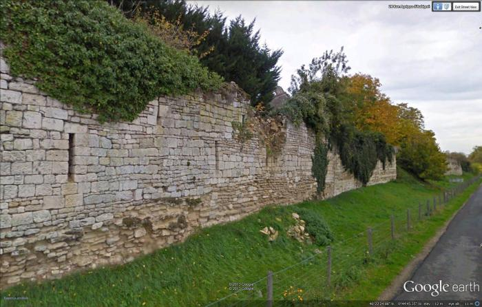 wall around abbey