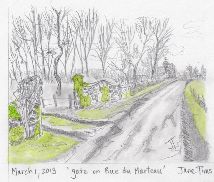 'gate on Rue du Marteau'