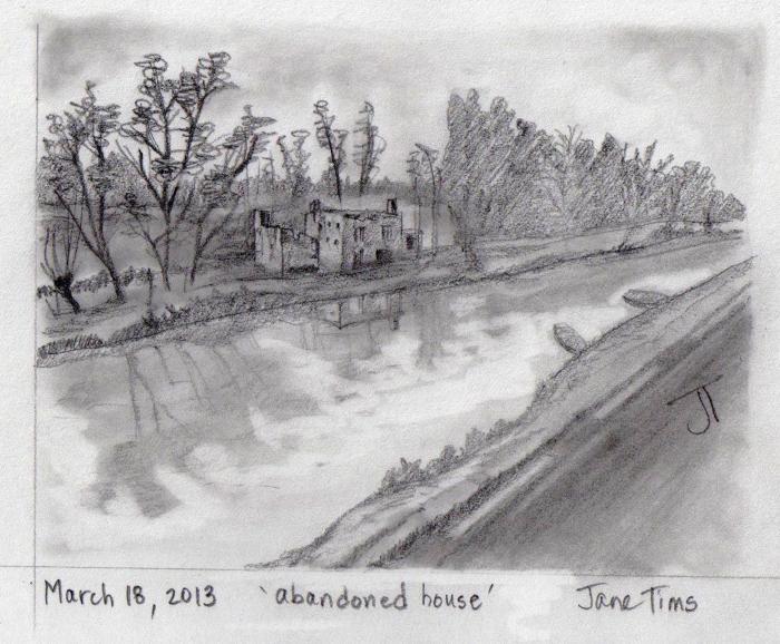 'abandoned house'
