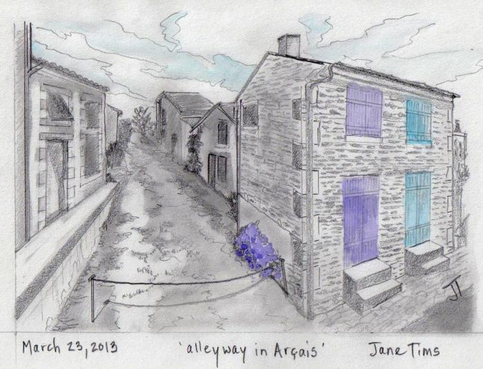 'alleyway in Arcais'
