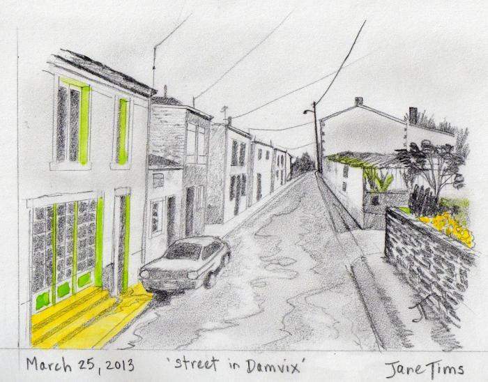 'street in Damvix'
