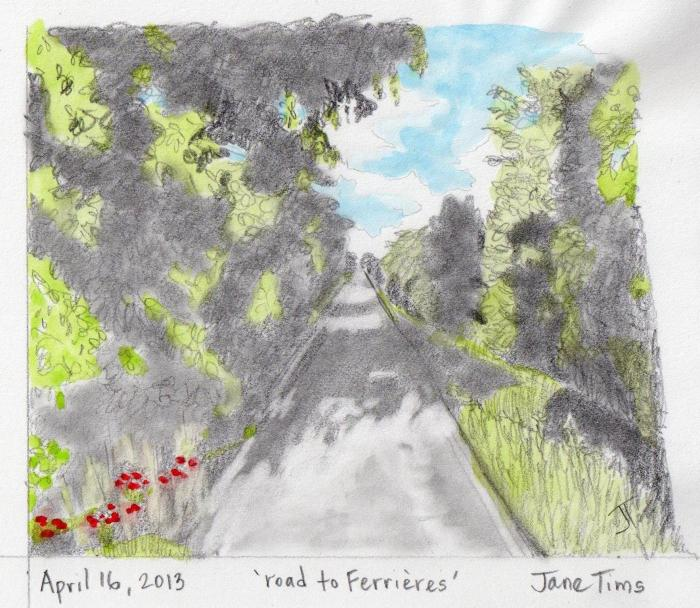 'road to Ferrieres'