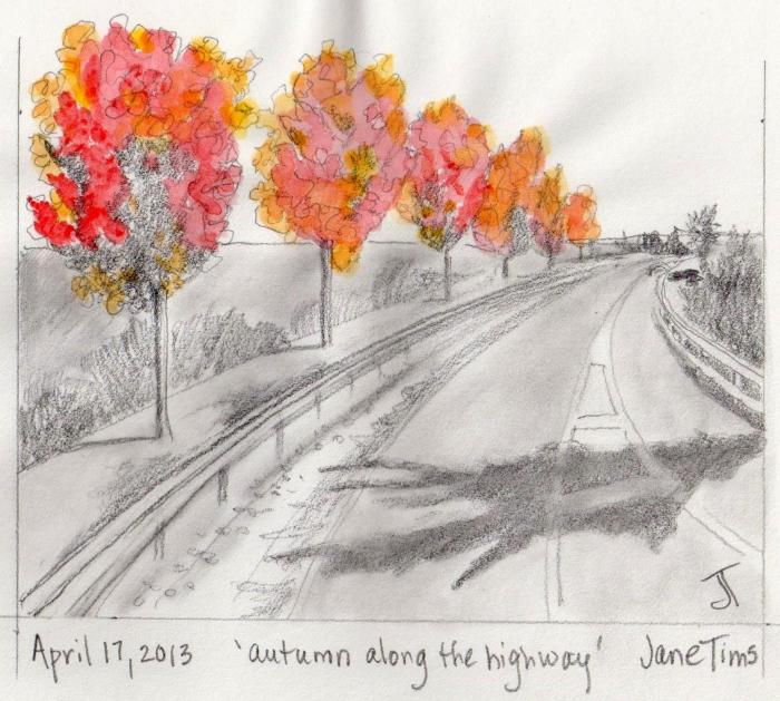 'autumn along the highway'