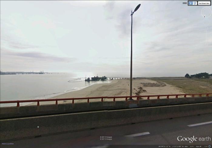 view of Ile de Ré from Bridge