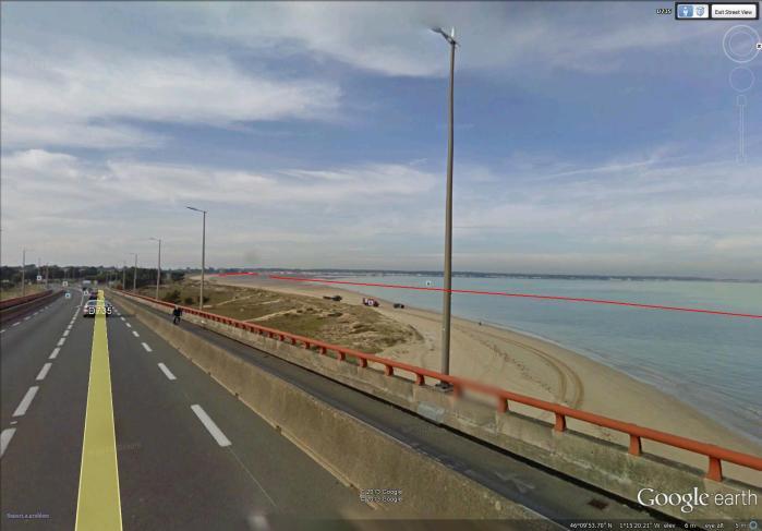 beach to east of bridge