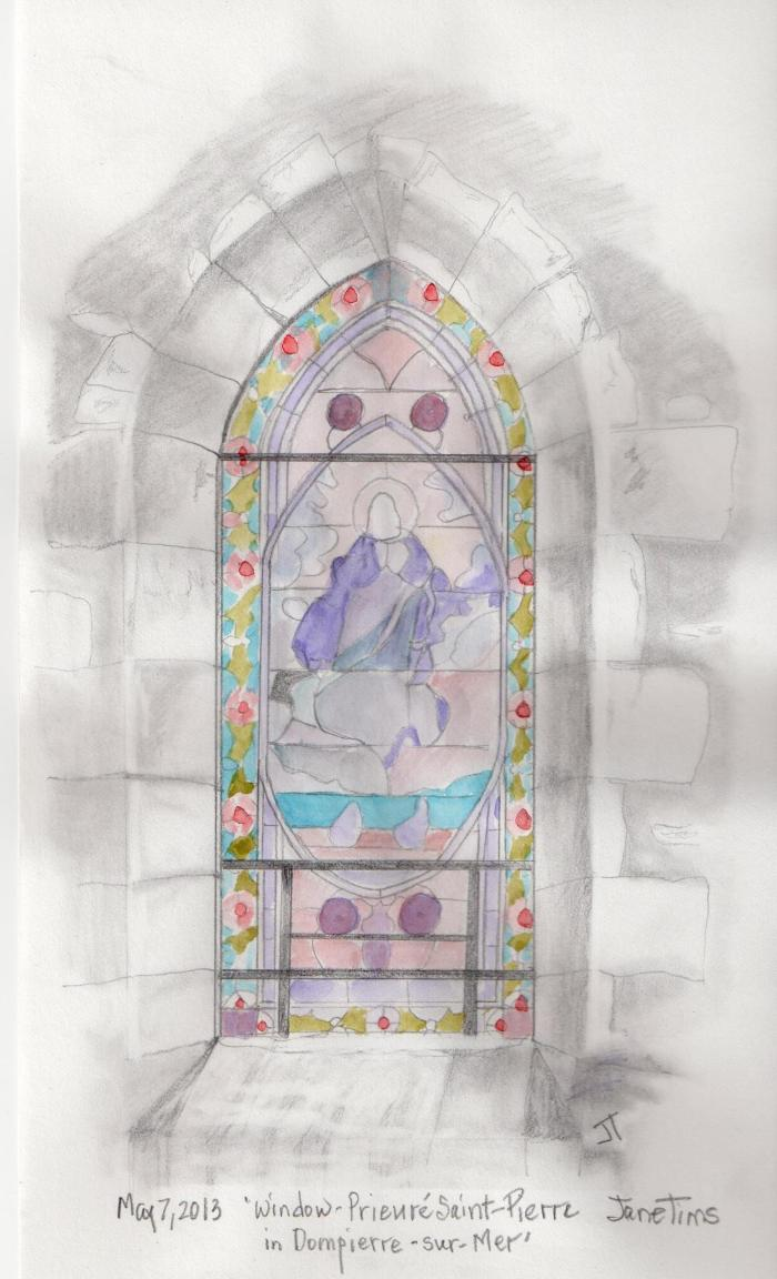 'window - Prieure Saint-Pierre in Dompierre-sur- Mer'