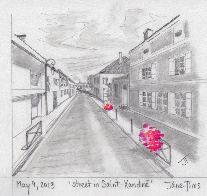 'street in Saint-Xandre'