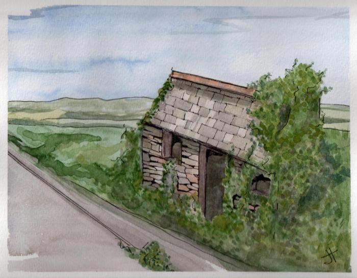 August 2, 2013  'hut on Polmear Hill'   Jane Tims