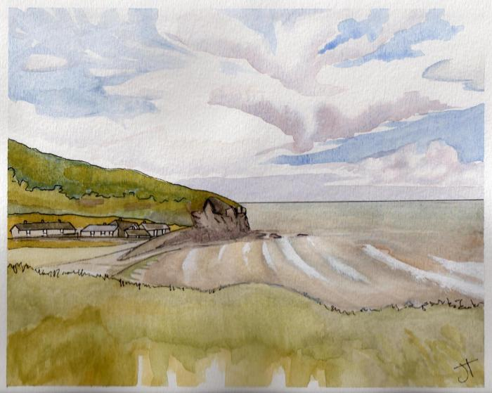 August 14, 2013  'cove at East Portholland'   Jane Tims