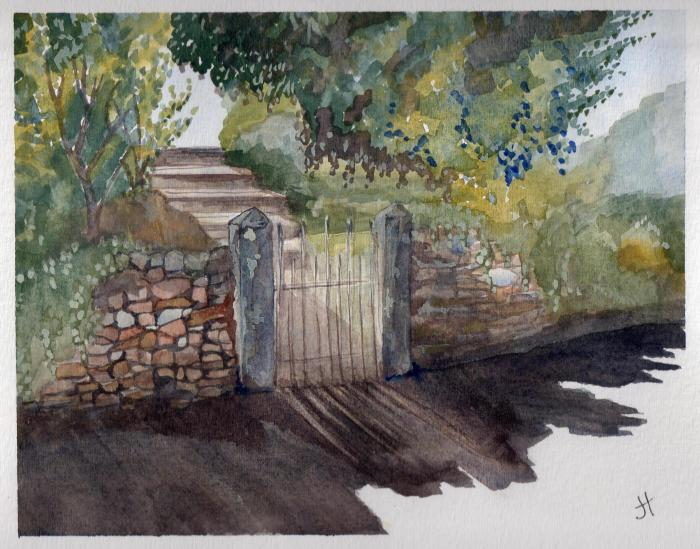 September 14, 2013  'afternoon by the gate'  Jane TimsIMG731_crop