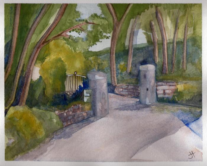 October 12, 2013 'Gate on Carclew Road' Jane Tims