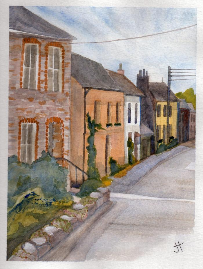 October 12, 2013   'houses in Mylor Brdge'   Jane Tims
