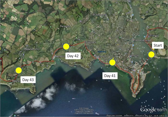 map day 41 to 43