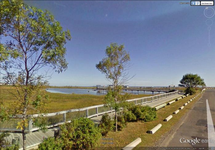 viewing area along Beresford Marsh
