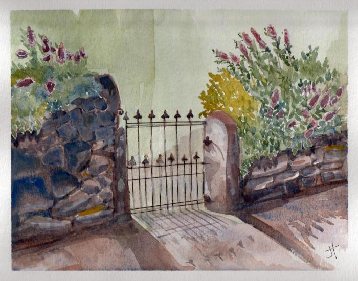'gate on Old Church Road' Jane Tims