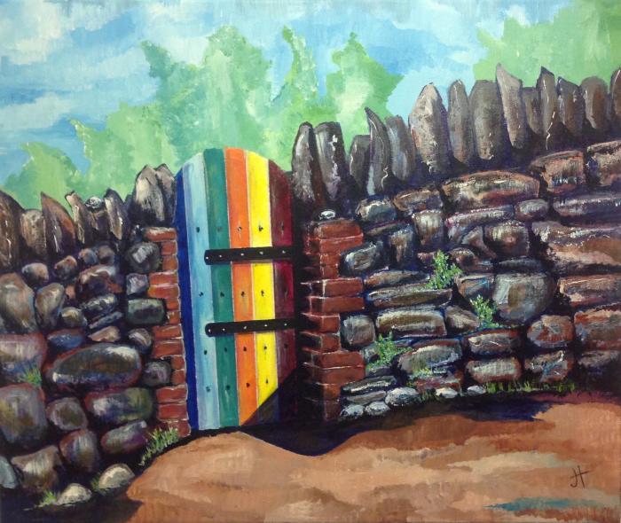 May 22, 2014 'rainbow gate in Falmouth #2' Jane Tims