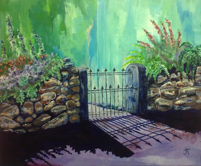 May 13, 2014  'iron gate in Cornwall'  Jane Tims