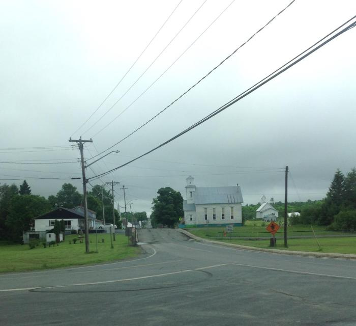 Village of Canterbury at the turn to Highway 630