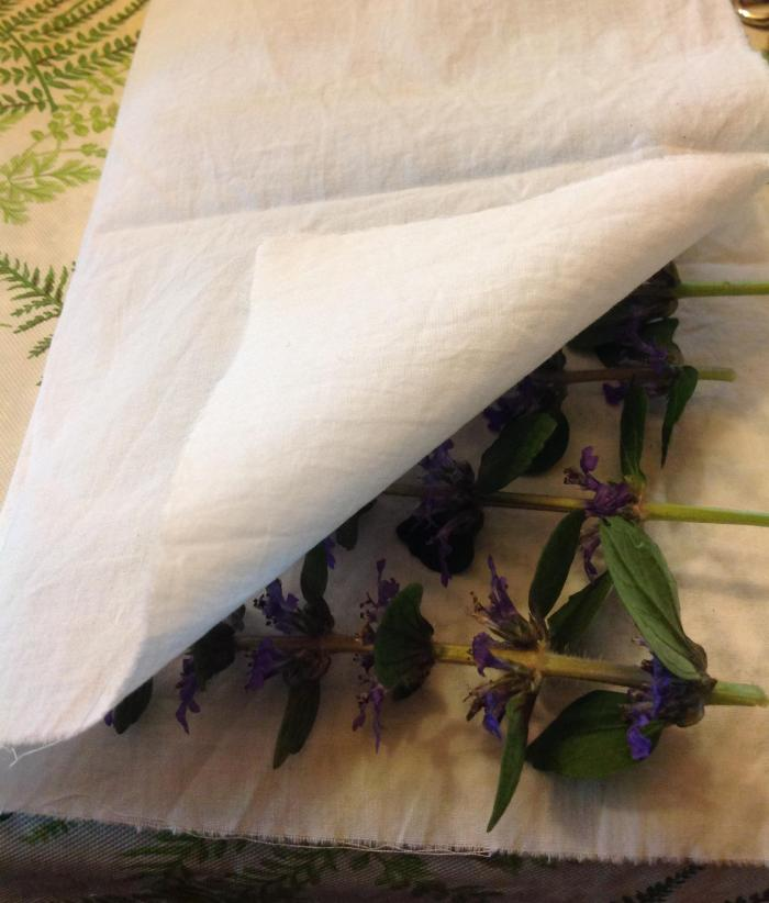 flowers folded in cotton