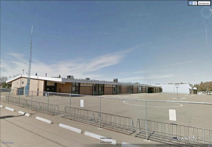 Webster Niblock Elementary School rear yard
