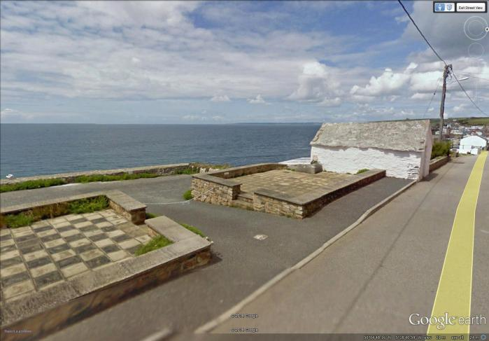 abandoned foundations along the coast at Porthleven (image from Street View)