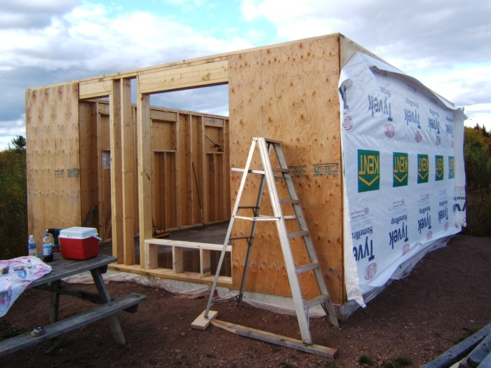 building the cabin in 2010