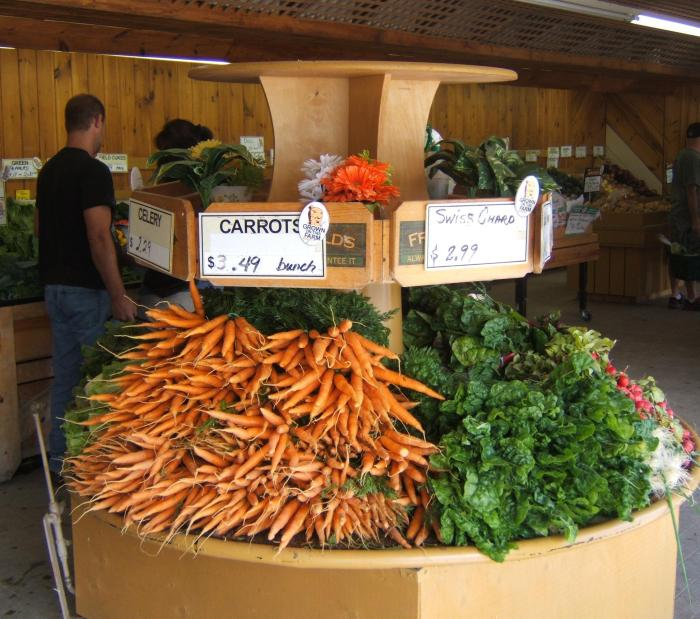 vegetables at the farmer's stand