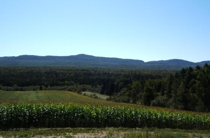 view along the Route des Sommets in the Eastern Townships of Quebec