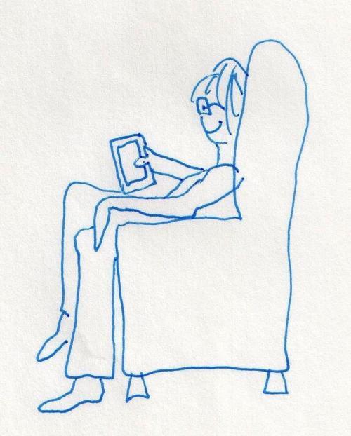 Jane, reading