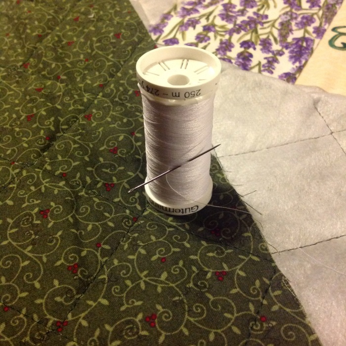 I use ready-quilted fabric for the quilt batt