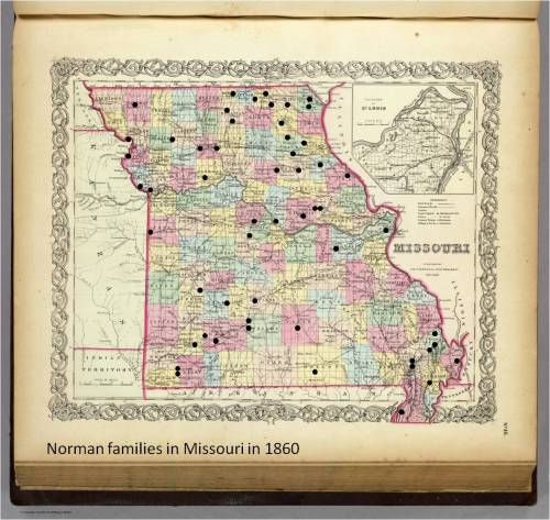 Norman Families Missouri 1860