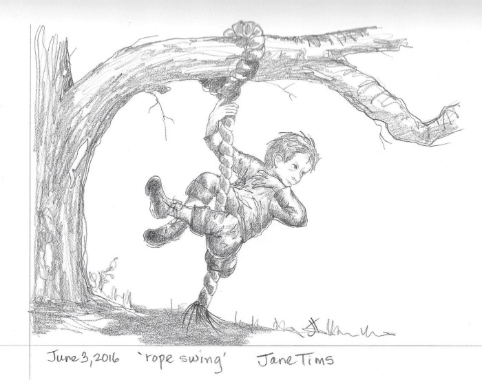 June 3 2016 'rope swing' Jane Tims