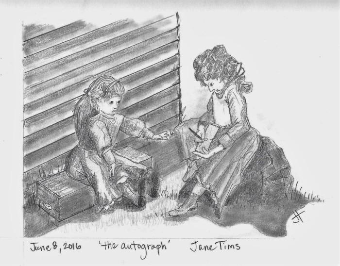 June 8 2016 'the autograph' Jane Tims