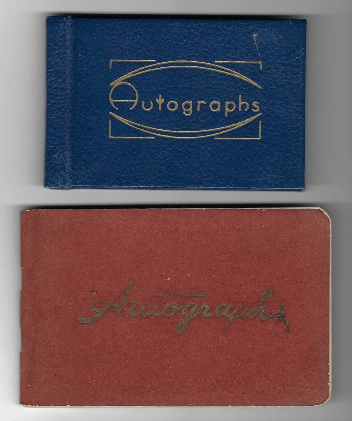 two of Jane Margaret Norman's autograph albums