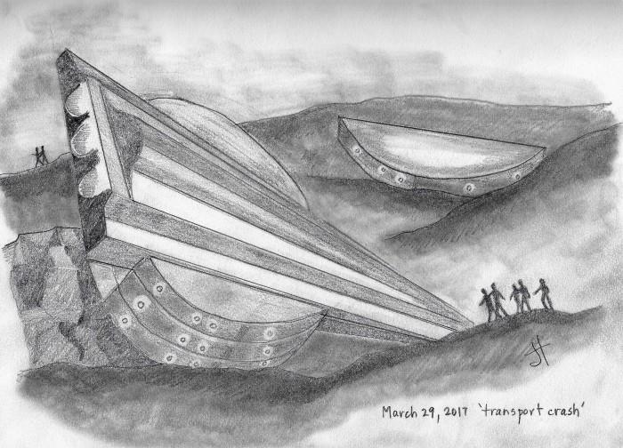 'transport crash'paperback