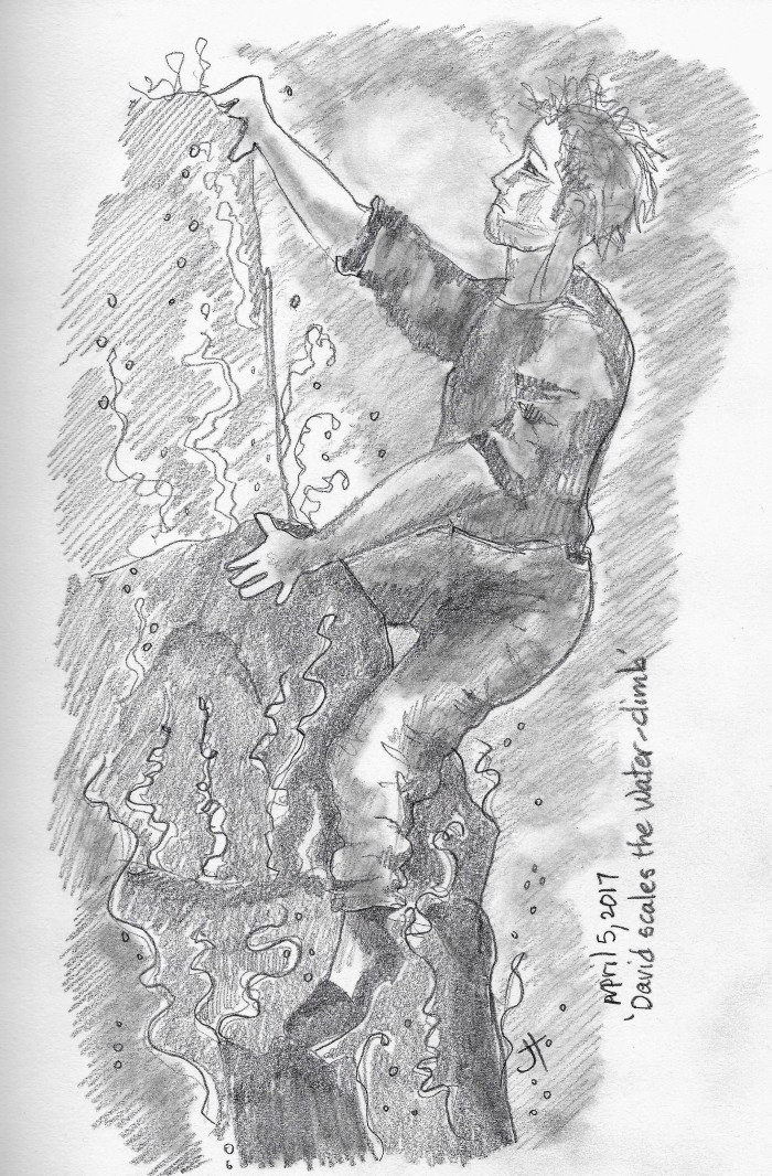 'David scales the water-climb'paperback