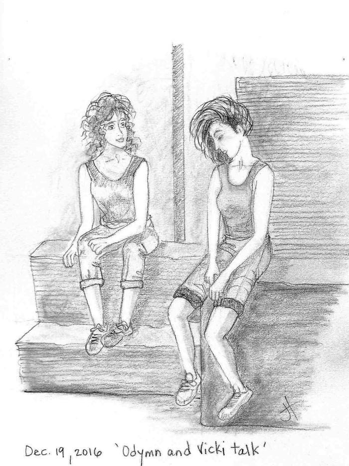'Odymn and Vicki talk'
